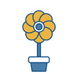 flower plant icon vector image vector image