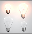 four kinds of light bulb vector image