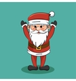Funny santa claus christmas icon vector image