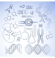 Genetic research set vector image