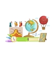 Geography Class Set Of Objects vector image vector image