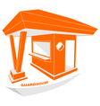 Guardhouse brand security guard logo vector image vector image