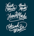 hand made hand written typography vector image vector image