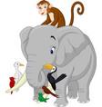 happy animals cartoon vector image