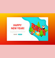 happy new year landing page vector image
