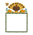 happy thanksgiving frame vector image