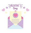 happy valentines day envelope message letter vector image vector image