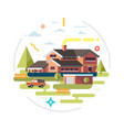house facade traditional cottage vector image vector image