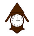 isolated wall clock icon vector image vector image