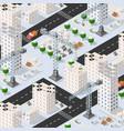 isometric 3d urban building vector image