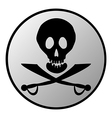 Jolly Roger button vector image vector image