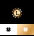 l gold letter monogram gold circle lace ornament vector image vector image