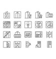 lift line icon set vector image vector image