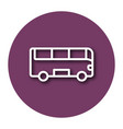 line icon of bus with shadow eps 10 vector image