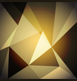 low poly design element on gold gradient vector image vector image