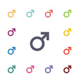 male flat icons set vector image vector image