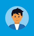 man smiling profile vector image vector image
