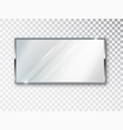 mirror rectangle isolated realistic mirror frame vector image vector image
