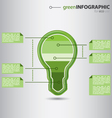 Modern green info graphic vector image vector image