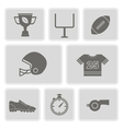 monochrome set with american football icons vector image