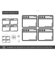 Multiple webpage line icon vector image vector image