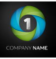 Number one logo symbol in the colorful circle on vector image vector image