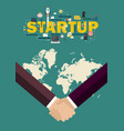 partnership handshake startup concept vector image vector image