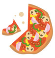 pizza classicprint vector image vector image