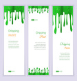 Set banners with clorful seamless dripping pain vector image