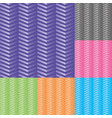 set chevron seamless pattern vector image