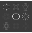 Set of sparkles and starbursts design elements vector image vector image