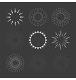 Set of sparkles and starbursts design elements vector image