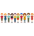 Simple characters standing together vector image vector image