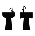 sink in black vector image vector image