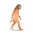 sketch caveman naked in loincloth walking vector image