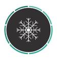 snowflake computer symbol vector image vector image