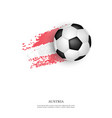 soccer ball on austria flag vector image vector image