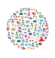 Soccer circle Icons set eps10 vector image