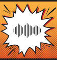 sound waves icon comics style icon on pop vector image vector image