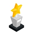 Star award isometric 3d icon vector image vector image
