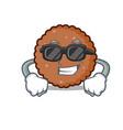 super cool chocolate biscuit character cartoon vector image vector image
