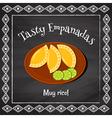 tasty empanadas vector image vector image