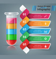 test tube experiments business infographics vector image vector image