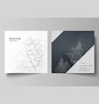 the minimal editable layout of two square vector image vector image