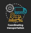 transportation coordination chalk concept icon vector image