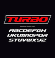 turbo font heavy italic letters modern type