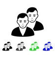 users flat icon vector image vector image