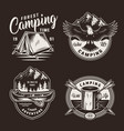 vintage summer adventure badges vector image vector image