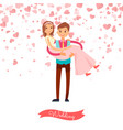wedding of groom and bride marriage day vector image vector image