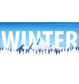 winter landscape christmas forest woods with vector image vector image